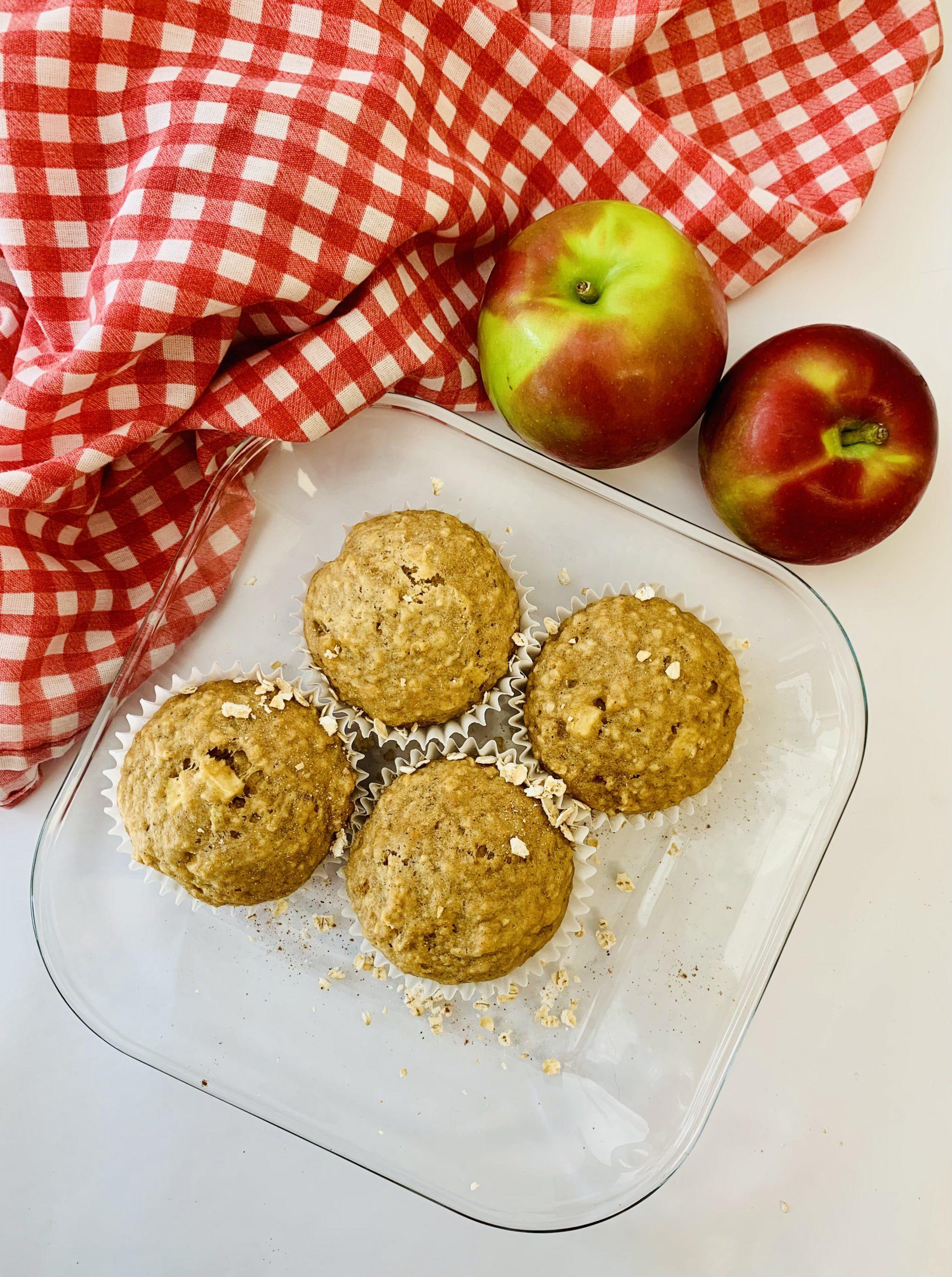 Muffins à l'avoine et pommes